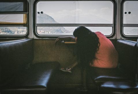 girl asleep on boat teremo